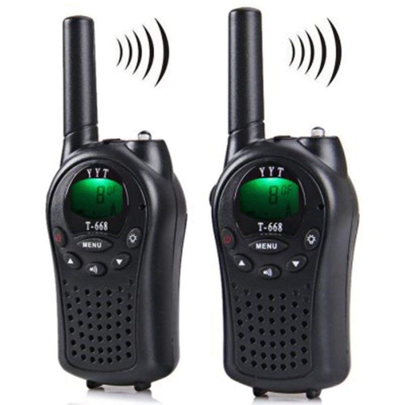 Two Way Radio Walkie Talkie 2 Pieces T 668 Handheld Auto Multi Channel 5KM-in Walkie Talkie from Cellphones & Telecommunications
