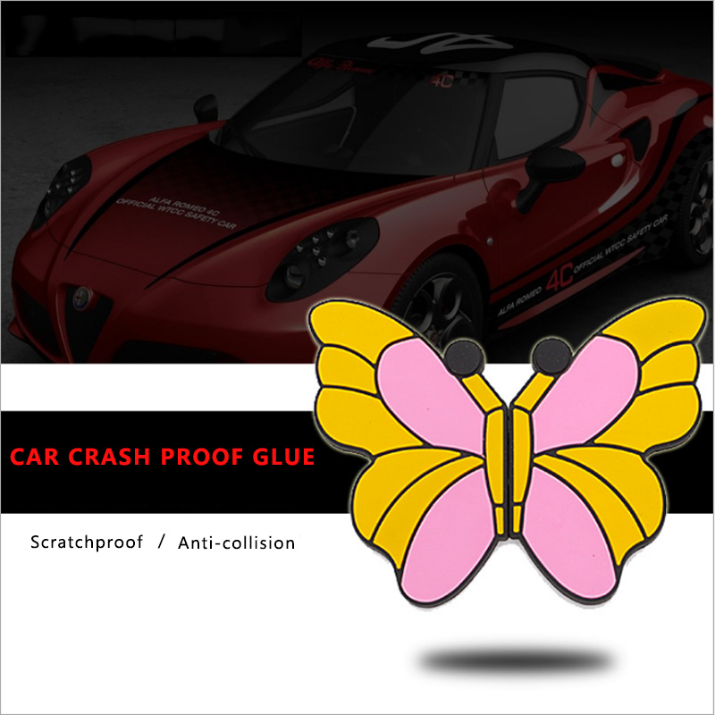 Car Accessories Personal Car Stickers Animal Models Door Anti-collision Stickers For Peugeot 307 308 406 3008 4008 407 508 208