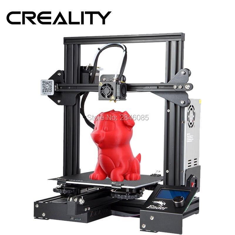 Mais novo Ender-3 Criatividade 3D Impressora prusa DIY Kit V-slot I3 Atualização Retomar o Poder Off Max Temp 110C