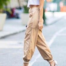 Streetwear Cargo Pants Women Casual Joggers Black High Waist