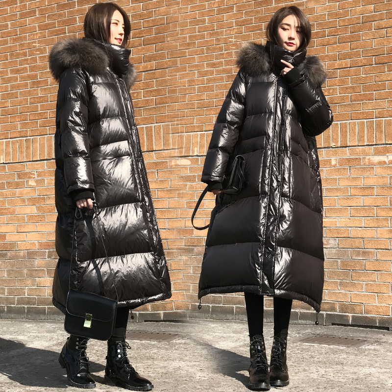 Vêtements Fourrure Chaud Manteau Canard Veste Black Plume Taille qwBxxtR0