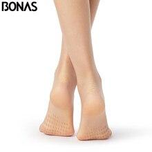 BONAS 15D kaymaz tayt seksi T kasık sıkı kadın nefes külotlu çorap Anti kayma külot yırtılmaya dayanıklı çorap kadın soğutma sıvısı