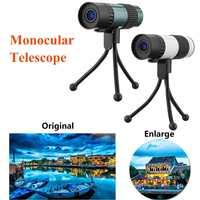 15 75X25 Mini High Power HD Vison Zoom Monocular Telescope With Tripod Outdoors Multi Coated Monocular Telescope