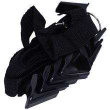 Adjustable over door straps bag hanger coat hook hat bag clothes storage rack home organizer creative housewares(black)
