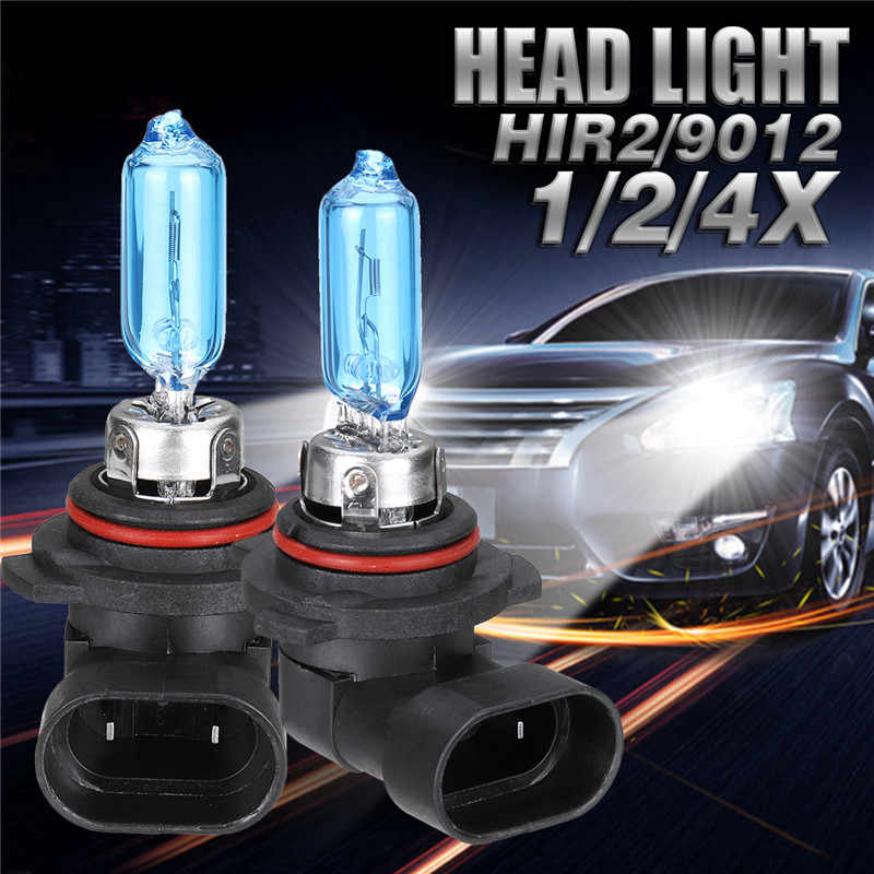 2/4x 9012 HIR2 Halogen Light Bulbs 55W 6000K Xenon Clear White Car-styling Car Headlights 9012LL HIR2 PX22d Car Headlight Bulbs