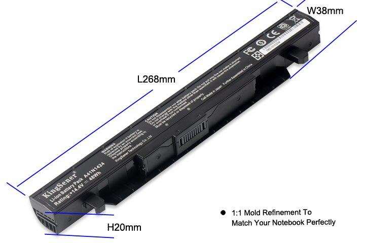 KingSener A41N1424 batería del ordenador portátil para ASUS ROG ZX50 ZX50J ZX50JX ZX50V ZX50VW GL552 GL552J GL552JX GL552V 14,4 V 3350 mAh - 3