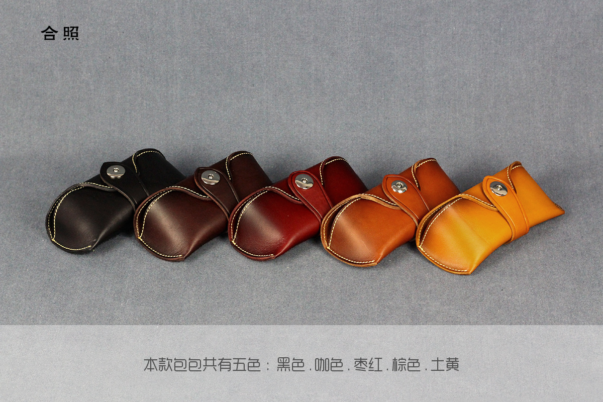 2019 Fashion Hot Sale Men Women Portable Glasses Case Magnetic Genuine Leather Fold able Glasses Box For Eyeglass Sunglasses in Eyewear Accessories from Apparel Accessories