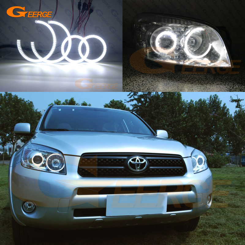 For Toyota Rav4 2006 2007 2008 projector headlight Excellent Ultra bright smd led Angel Eyes kit