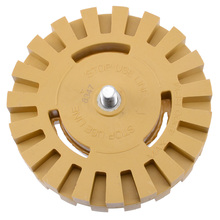 4 100mm Decal Removal Eraser Wheel w/ Power Drill Arbor Adapter Rubber Pinstripe Auto Repair Disk Remove Car Decals