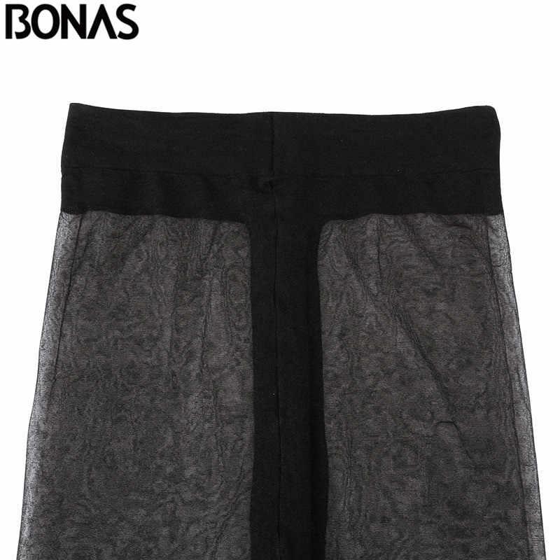 Bonas 6 個t股タイツ 15D非スリップタイトなセクシーな女性ストッキングアンチスリップパンティ耐裂性ストッキング女性collantナイロン