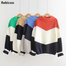 Winter Pull Sweaters Women 2019 Fashion Loose Jumpers Korean Pullovers Knitting Pullovers Thick Christmas Sweater цены
