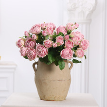 Artificial plastic roses flower Simulation  Home Furnishing Decoration Wedding fake rose Articles party decor