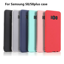 Xindiman soft TPU fundas for samsung galaxy S8 case candy color back cover S8plus capa
