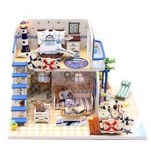 1:24 миниатюрный набор для кукольного домика DIY деревянный модель кукольного домика с мини светодиодный свет развивающие игрушки подарок на день рождения для Для детей