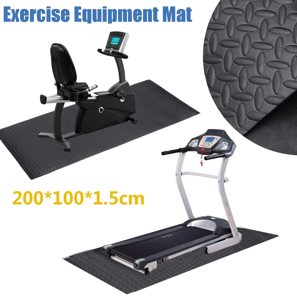 Treadmill Mat 6PCs Non-Slip Heavy Duty Equipment Mat Cushion Waterproof Sound Insulation Shock Absorbing Treadmill Mat for Hardwood Floors