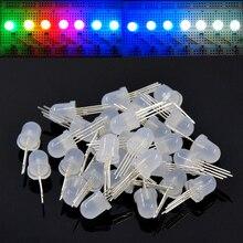5 1000pcs DC5V PL9823 F5 5mm F8 8mm 라운드 모자 주소 지정 LED P9823 칩셋 RGB 풀 컬러 서 리 낀 LED 칩 픽셀