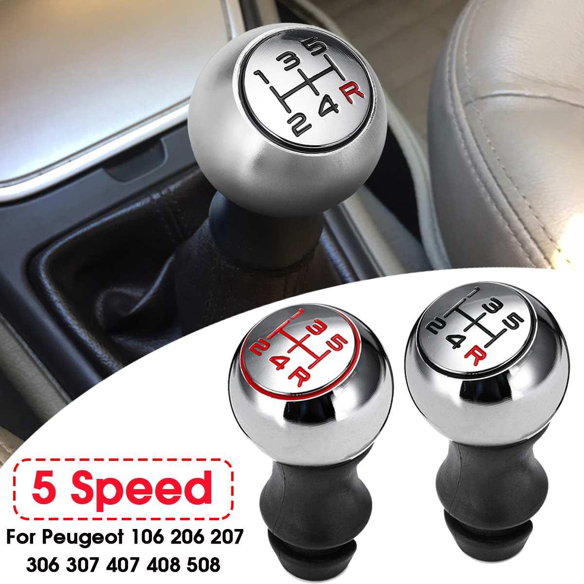 5 velocidade Do Carro MT Deslocamento de Engrenagem Shifter Punho Da Alavanca Alavanca de Câmbio Vara Para Peugeot 106 206 306 406 107 207 307 407