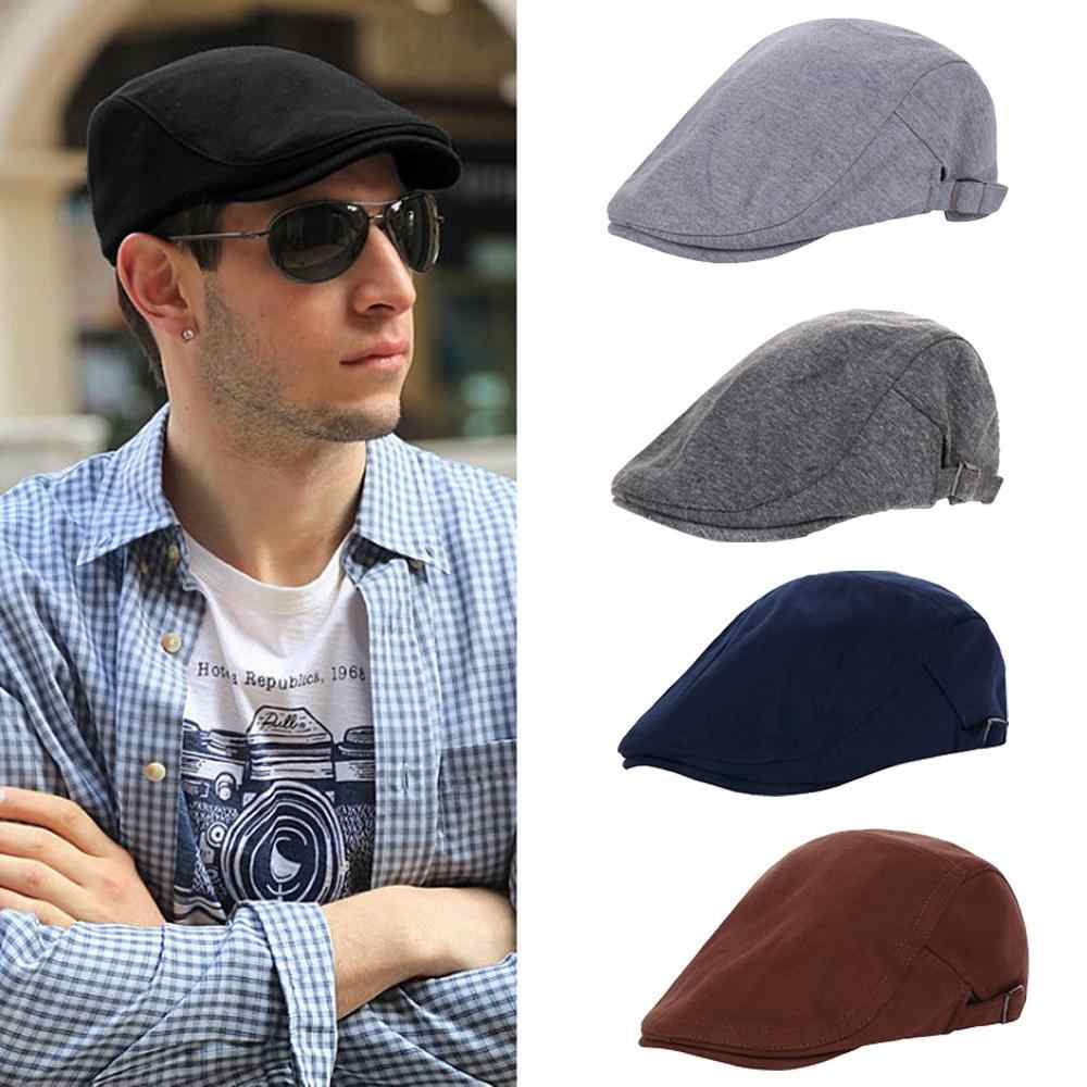 f3842c12 Retro Men Women Beret Hat Duckbill Cap Casual Golf Driving Flat Cabbie Newsboy  Cap Gatsby Ivy