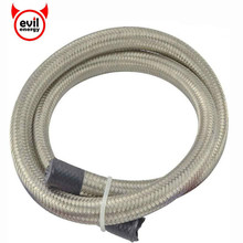 evil energy 1M AN4 AN6 AN8 AN10 AN12 Stainless Steel Double Braided Hose Oil Fuel Hose Line Universal Oil Cooler Fuel Hose Tube 1m 3m stainless steel braided brake gas oil fuel line hose an4 an6 an8 an10 new