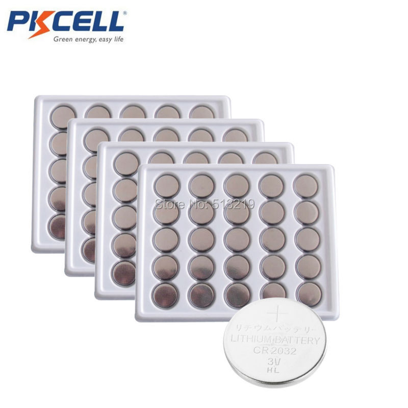 100PCS PKCELL CR2032 <font><b>battery</b></font> CR <font><b>2032</b></font> BR2032 DL2032 SB-T15 EA2032C ECR2032 L2032 3V Lithium <font><b>battery</b></font> Button Cell Coin pile cr2032 image