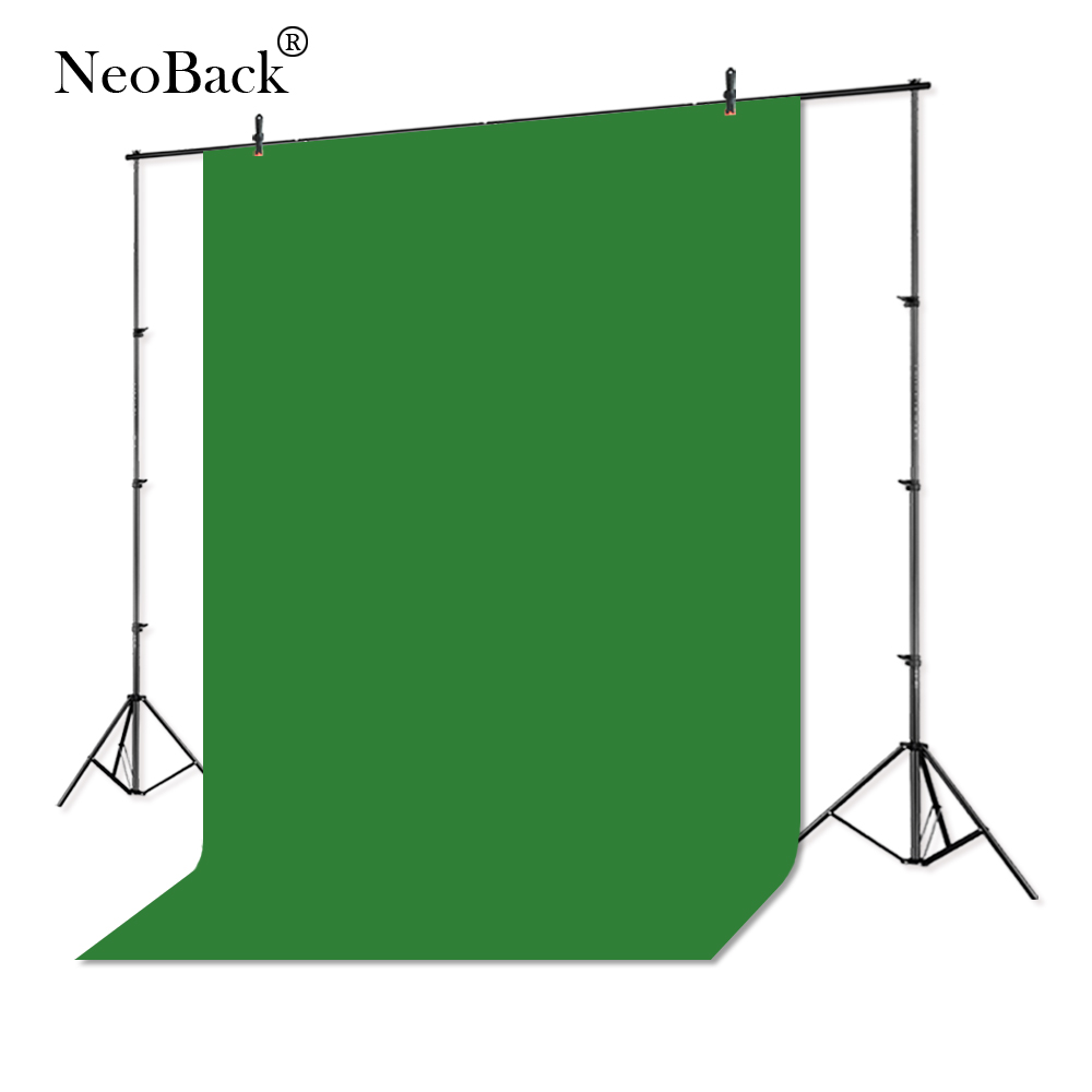 NeoBack 300x360 cm Chromakey Photo fond Photographie Solide Toile de Fond Studio Vidéo Muslin Coton Tissu Vert Écran CKG1012