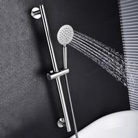 SUS304 paslanmaz çelik ayarlanabilir duş sürgü d el tutma duş raylı sürgü seti SUS304 duş ve hortum fırçalanmış nikel|Duş Kayar Çubukları|Ev Dekorasyonu -