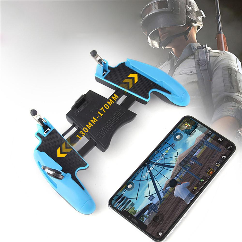 Z8 Mobile Controller Stretchable Gamepad Joystick PUBG Game Fire Button Aim Key L1R1 Shooter Trigger with Phone Holder-in Replacement Parts & Accessories from Consumer Electronics