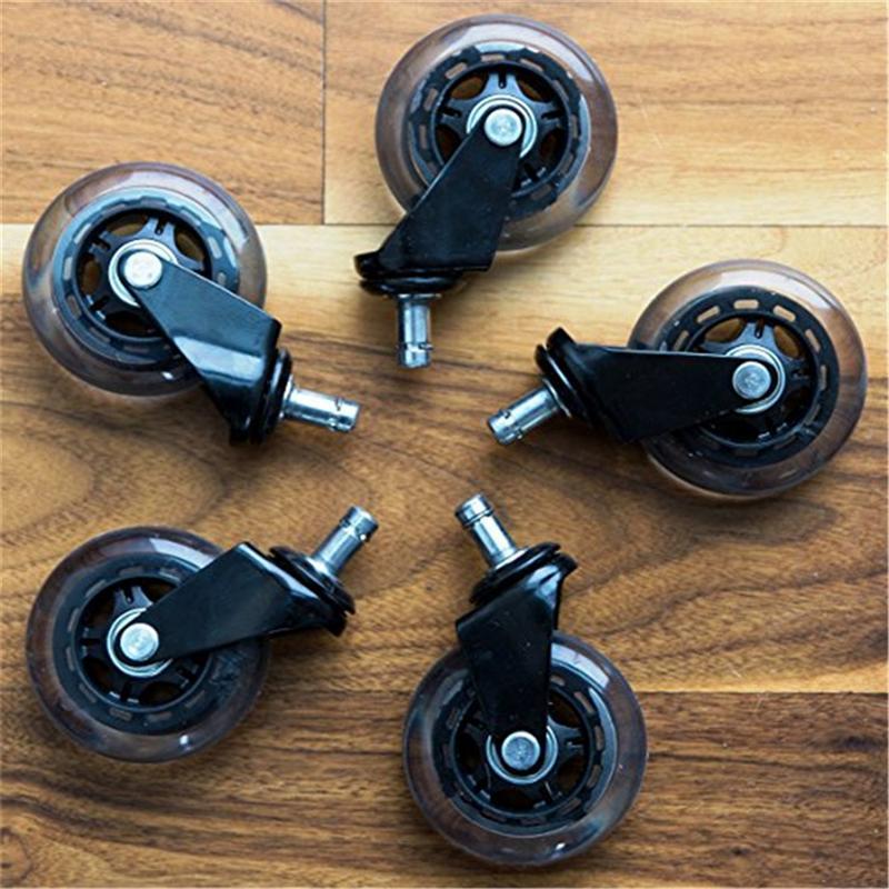 1pc cadeira de escritório rodízio rodas rolo rodízio roda substituição 3 Polegada rodas rodízio borracha giratória rolos móveis ferragem-4