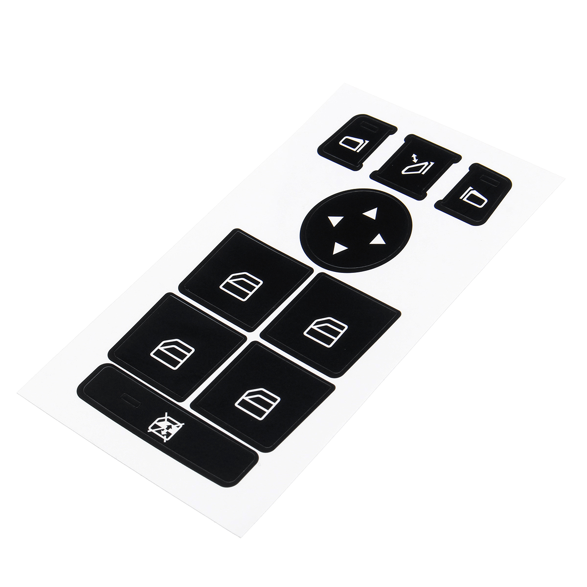 Car Window Switch Button Repair Stickers For <font><b>Mercedes</b></font> For Benz 2008-2014 W204 <font><b>C300</b></font> C350 Button Repair Kit Fix Faded Ugly Buttons image