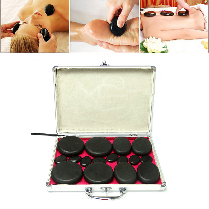 16 Pieces Health Energy Stone Hot Stone Hheating Box SPA Essential Oil Massage Artifact Massage Stone Set Relaxation16 Pieces Health Energy Stone Hot Stone Hheating Box SPA Essential Oil Massage Artifact Massage Stone Set Relaxation