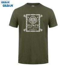 GILDAN T-shirts  Brand Clothes Slim Fit Printing Vikings T-shirt