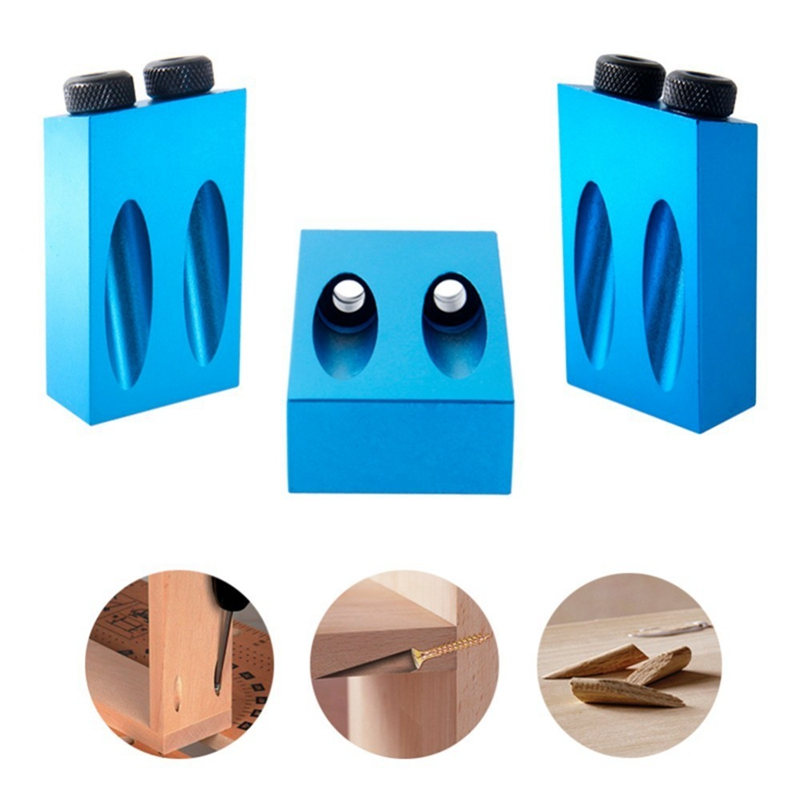 Oblique Hole Angle Drilling Locator Aluminum Alloy Woodworkers Guide Wood Hand Tools Punch 15 Degree