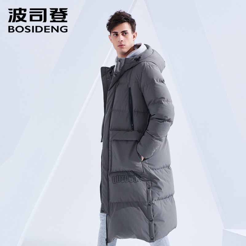 BOSIDENG 2018 new winter X-Long   down     coat   hooded outwear thicken outwear waterproof windbreaker plus size B80142541DS