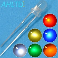 1000Pcs LED 3mm White Red Green Blue Yellow Orange Diffused Round Diode 1.8~3.4V Led F3 Light Emitting Diodes Lamp Bulb