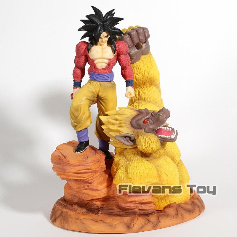 Аниме Dragon Ball Z Супер Saiyan 4 Сон Гоку золото Great обезьян сцены статуя ПВХ Рисунок Коллекция Модель игрушки