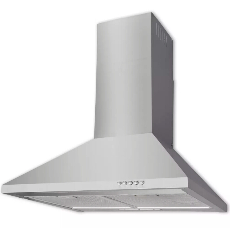 ><font><b>vidaXL</b></font> Hood Stainless steel 600mm high quality ultra quiet and powerful extractor hood