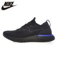 NIKE Epic реагировать Flyknit для мужчин's кроссовки Удобная уличная дышащая Спортивная обувь # AQ0067 AQ0070 AO9819
