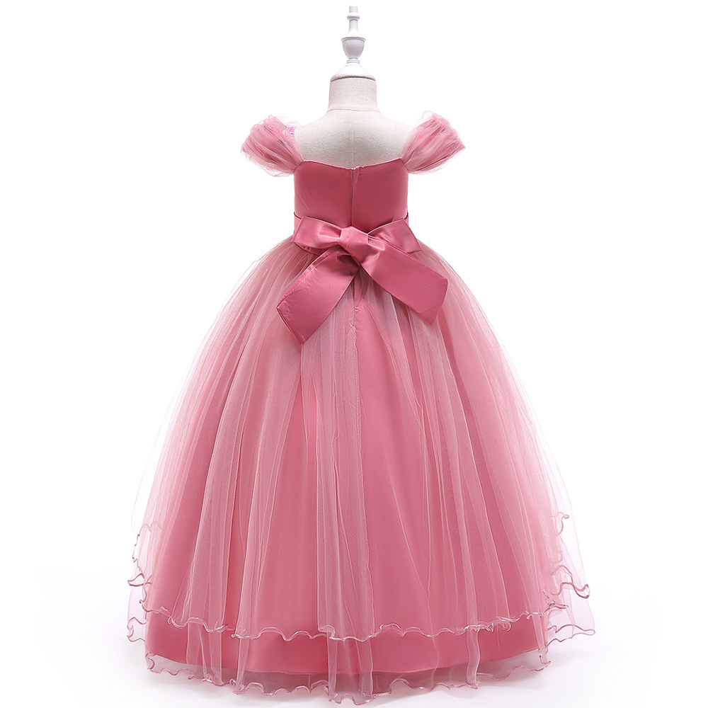 2019 childrens dress long shoulder applique gauze princess dress irregular costumes2019 childrens dress long shoulder applique gauze princess dress irregular costumes