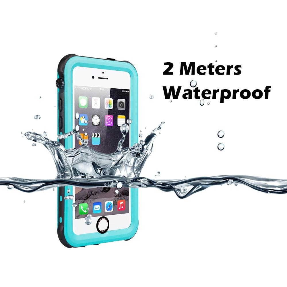 IP68 Boîtier Étanche pour iPhone 7 8 Natation Plongée En Plein Air Antichoc Couverture pour iPhone 5S SE 6 s 7 p 8 Plus Protection Complète