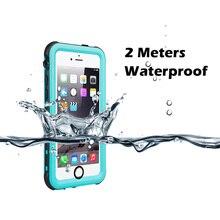 IP68 מקרה עמיד למים עבור iPhone 7 8 שחייה צלילה חיצוני עמיד הלם כיסוי עבור iPhone 5S SE 2020 6S 7P 8 בתוספת הגנה מלאה
