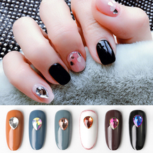 10 Pieces Nail Art 3D Rhinestone Decoration Water Drop nails rhinestone crystals accessories Flatback glass stone