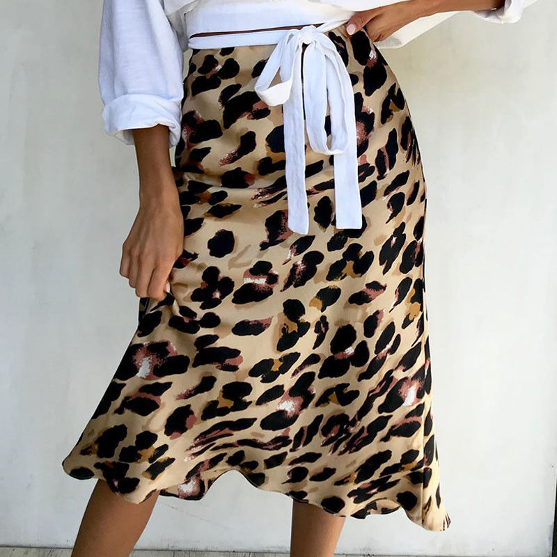 Thefound 2019 New Leopard Print Skirt Multiple Sizes Realisation