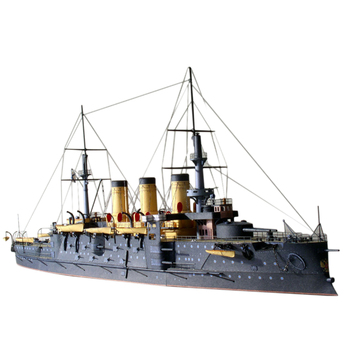 1:250 DIY Czar Russia Navy Oslabya Battleship Military Paper Ship Model Kits for Home Decor Toys for Kid