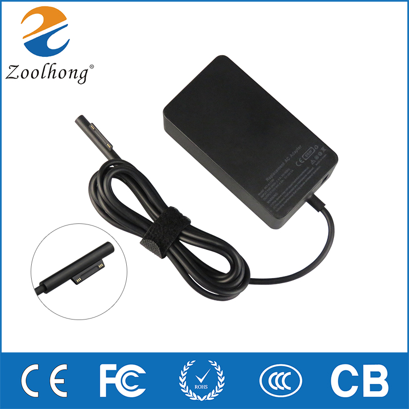 15V 4A 65W Laptop Charge AC Adapter For Microsoft Surface Pro 4 Pro3 Tablet Surface Book A1706 with 5V 1A USB Power Port