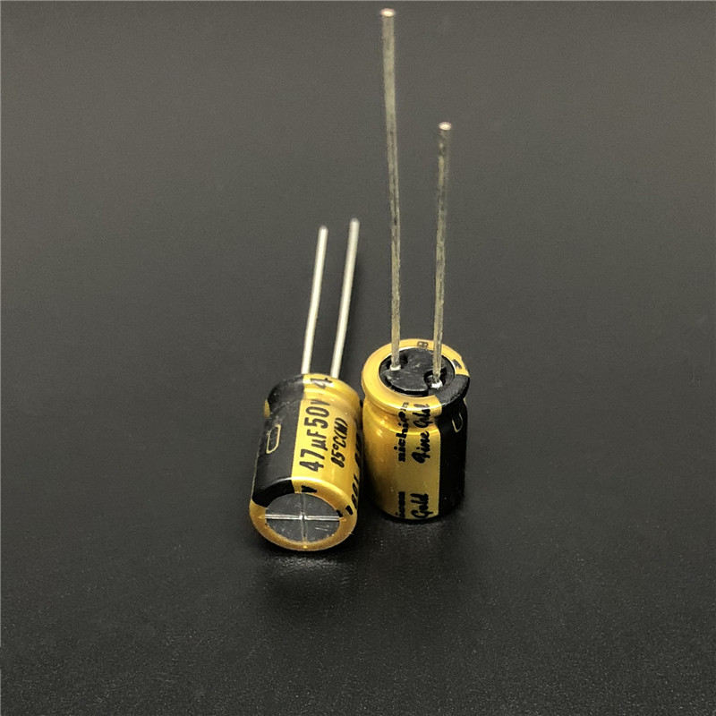 5pcs/50pcs 47uF 50V NICHICON FG(Fine Gold) 8x11.5mm 50V47uF MUSE Top Grade Audio Capacitor