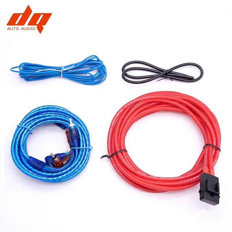 Converter Voodoo 4 Gauge Car Amplifier Installation Wiring Wire Kit Amp RCA