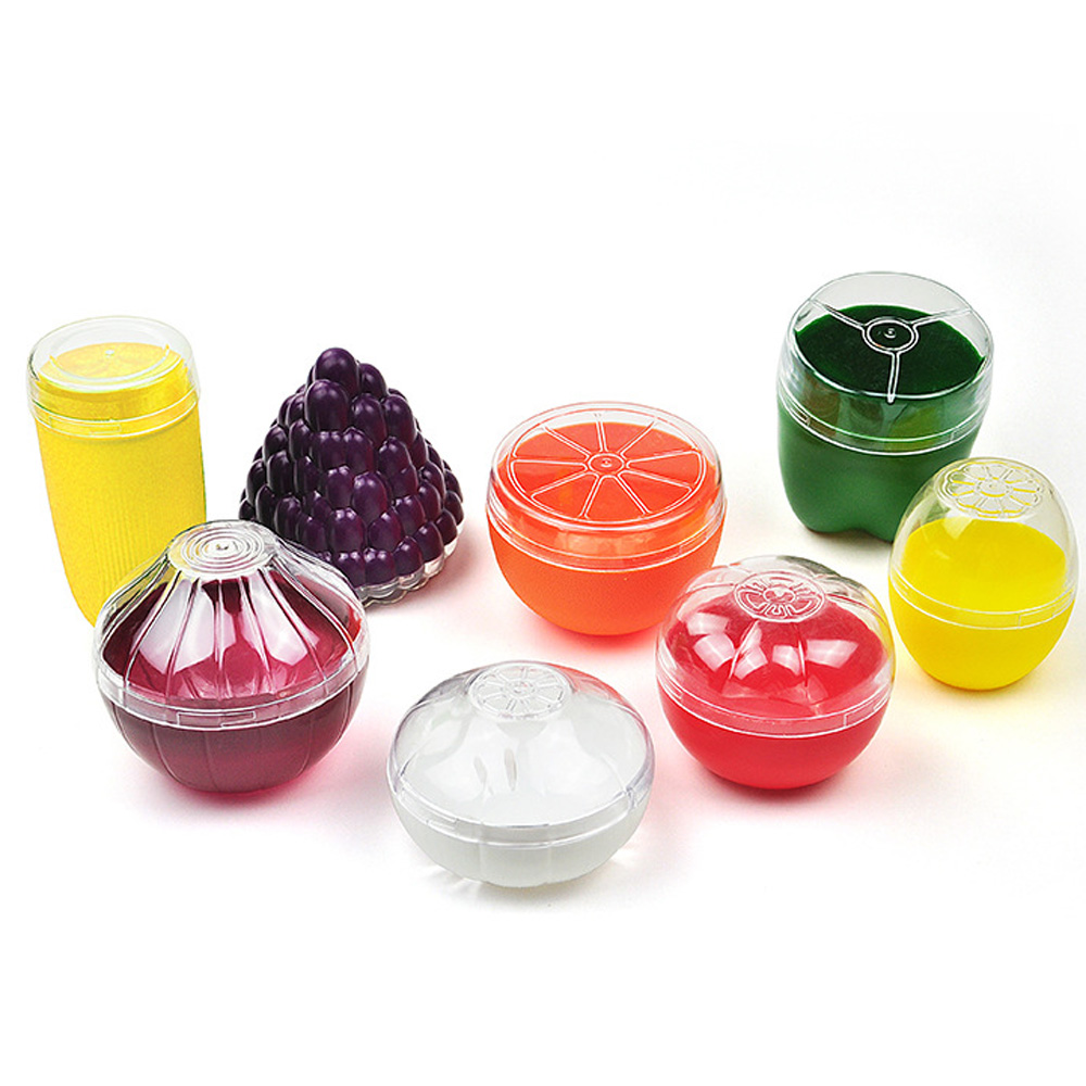 Cute Kitchen Vegetable Fruits Crisper Food Containers Onion Lemon Tomatoes Green Pepper Shaped Plastic Fresh Storage Box Case