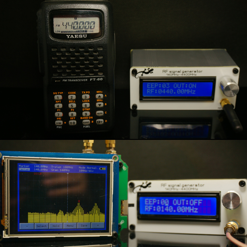 140MHZ to 4400MHZ RF Signal Generator Signal Source Digital LCD lithium Battery Antenna