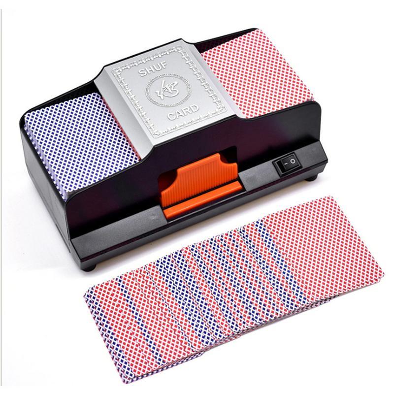 Professionnel Shuffler de Carte 1 2 Plate Formes Automatique À Grande Vitesse En Plastique Machine Brouillante Jeux De Cartes Shuffler - 3