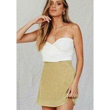 pleated summer skirt Women Girls High Waist Skirts Hip Mini Skirts A-Line Skirt faldas mujer moda Women Casual Beach Skirts short straight oblique bang heat resistant fiber wig